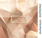 geometric abstract golden... | Shutterstock .eps vector #342903962