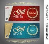 luxury gift voucher template... | Shutterstock .eps vector #342906242