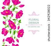 floral seamless pattern. flower ... | Shutterstock .eps vector #342928022