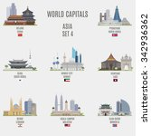 world capitals. famous places... | Shutterstock .eps vector #342936362