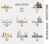 world capitals. famous places... | Shutterstock .eps vector #342937586