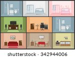 interior house rooms and...   Shutterstock .eps vector #342944006
