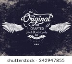 vintage typography for apparel | Shutterstock .eps vector #342947855