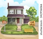 house for sale | Shutterstock . vector #342956066