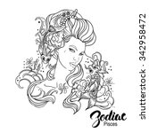 zodiac. vector illustration of... | Shutterstock .eps vector #342958472