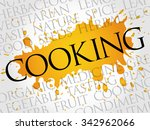 cooking word cloud concept | Shutterstock .eps vector #342962066