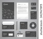 corporate identity branding...   Shutterstock .eps vector #342967895