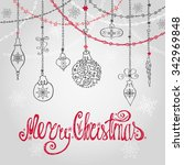 christmas greeting card with... | Shutterstock .eps vector #342969848