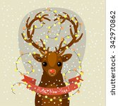 holiday illustration with a... | Shutterstock .eps vector #342970862