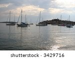 ship harbor croatia primosten | Shutterstock . vector #3429716