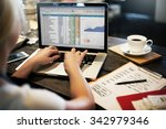 financial planning accounting... | Shutterstock . vector #342979346