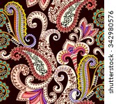 colorful pattern with beige... | Shutterstock .eps vector #342980576