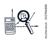 icon of analysis process... | Shutterstock .eps vector #342986888