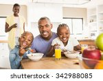 casual happy family having... | Shutterstock . vector #342988085