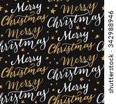seamless christmas pattern.... | Shutterstock .eps vector #342988946