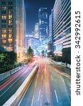 slow motion of urban traffic...   Shutterstock . vector #342992615