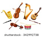 musical instruments. vector... | Shutterstock .eps vector #342992738