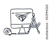 icon of development process... | Shutterstock .eps vector #342994262
