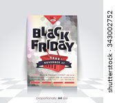 a4 style black friday poster ... | Shutterstock .eps vector #343002752