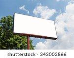 blank billboard template with...   Shutterstock . vector #343002866