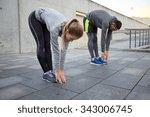 fitness  sport  exercising ... | Shutterstock . vector #343006745