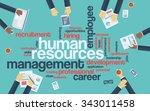 human resources flat design... | Shutterstock .eps vector #343011458