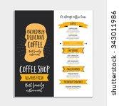 vector restaurant brochure ... | Shutterstock .eps vector #343011986