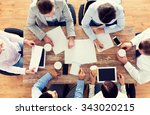 business  people and team work... | Shutterstock . vector #343020215