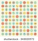 set of 100 isolated universal... | Shutterstock .eps vector #343020572