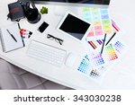 working place of designer ... | Shutterstock . vector #343030238