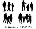 image of children and parents... | Shutterstock . vector #34303933