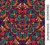 tribal ethnic bohemia fashion... | Shutterstock .eps vector #343040582