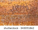 rusty metal background with... | Shutterstock . vector #343051862