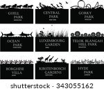 national parks of the world   Shutterstock . vector #343055162