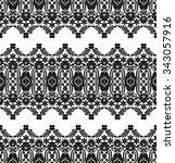 lace black seamless pattern...   Shutterstock .eps vector #343057916