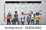 calender planner organization... | Shutterstock . vector #343063082