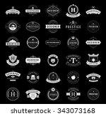retro vintage logotypes or... | Shutterstock .eps vector #343073168