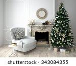 Christmas Living Room With A...