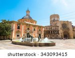 square of saint mary's and... | Shutterstock . vector #343093415