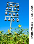 A Stand Of Gourd Birdhouses Fo...