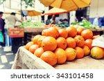 Fresh Organic Oranges At Local...