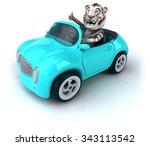 fun tiger | Shutterstock . vector #343113542