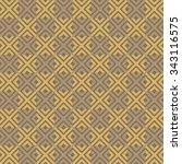 seamless elegant ornamental... | Shutterstock .eps vector #343116575
