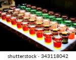 variation of hard alcoholic...   Shutterstock . vector #343118042