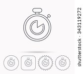 timer icon. stopwatch sign.... | Shutterstock .eps vector #343119272