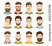 flat icons collection of... | Shutterstock .eps vector #343120538