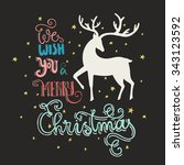 unique christmas card with... | Shutterstock .eps vector #343123592