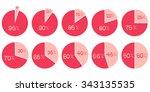 percentage vector infographics. ... | Shutterstock .eps vector #343135535