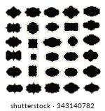 set of frames on white. jpg... | Shutterstock . vector #343140782