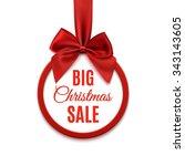 big christmas sale  round...   Shutterstock .eps vector #343143605
